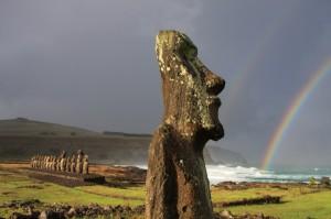 Moai statues in Rapa Nui