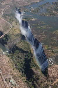A look at Victoria Falls from our helicopter flight.