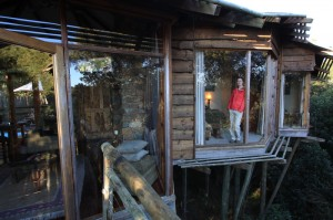 Leanne in our amazing villa treehouse