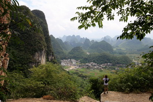 view from the Moon Hill near Yangshuo