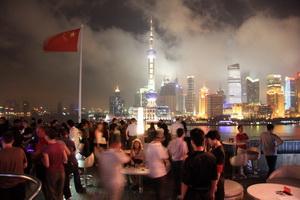 Rooftop bar in Shanghai