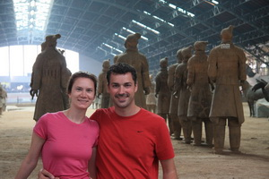 Leanne and Michael at the Terra Cotta Warriors