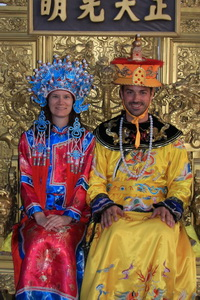 Michael as Emperor and Leanne as his Concubine