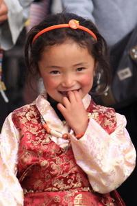 local Tibetan girl