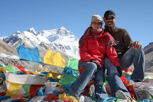 Leanne and Michael at Everest Base Camp