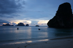 evening view from Phra Nang Beach