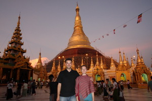 Michael and Leanne at the Schwedagon Stupa